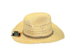 36 Units of Woven Cowboy Hat In Assorted Colors - Fedoras, Driver Caps & Visor