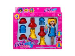 18 Units of 7 Fashion Doll with Snap-on Accessories - Toy Sets