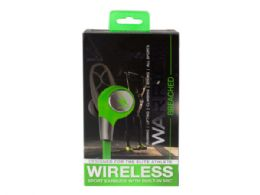 6 Units of iHip Warrior Wireless Bluetooth Sport Earbuds - Grey/Green - Headphones and Earbuds