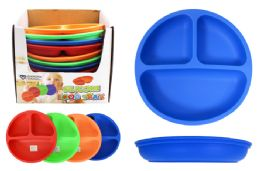 48 Units of Indestructible Silicone Plate - Plastic Bowls and Plates