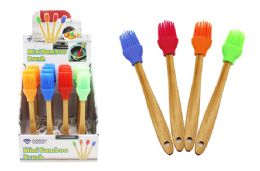 48 Units of Mini Silicone Brush With Bamboo Handle - Kitchen Gadgets & Tools