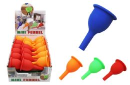 108 Units of Mini Silicone Funnel - Strainers & Funnels