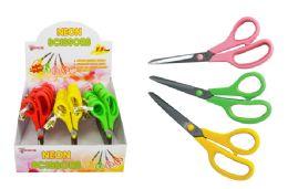 30 Units of Neon Cushion Grip Scissors - Scissors