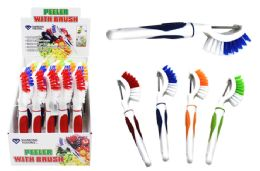40 Units of Peeler With Scrub Brush - Kitchen Gadgets & Tools