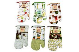 48 Units of Printed Oven Mitt - Oven Mits & Pot Holders