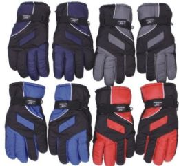 48 Units of Men's Waterproof Ski Glove - Ski Gloves
