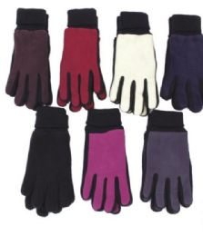 72 Units of Women's Fleece Glove - Fleece Gloves