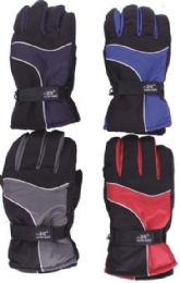 48 Units of Men's Winter Waterproof Ski Glove - Ski Gloves