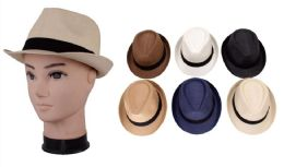 72 Units of Men's Assorted Fedora Hat - Fedoras, Driver Caps & Visor
