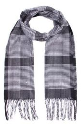 96 Units of Unisex Striped Winter Scarf - Winter Scarves