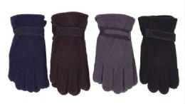 72 Units of Men's Fleece Glove Assorted Colors - Fleece Gloves