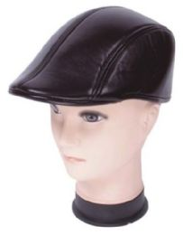 72 Units of Men's Leather Driver Cap - Fedoras, Driver Caps & Visor
