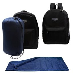 12 Units of 10 Backpacks and 10 Sleeping Bags - Backpack Care Sets