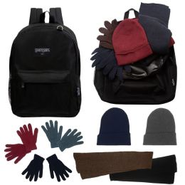 12 Units of 12 Backpacks And 12 Winter Item Sets - Backpack Care Sets