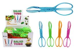 40 Units of Translucent Salad Tongs - Toilet Brush