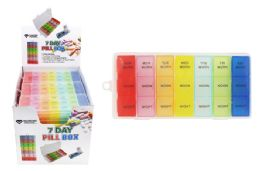 48 Units of 7 Day Pill Box Morning Noon And Night - Pill Boxes and Accesories