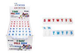 36 Units of Compact 7 Day Pill Box - Pill Boxes and Accesories