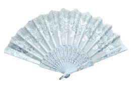 48 Units of Folding Fan White Butterfly - Novelty & Party Sunglasses