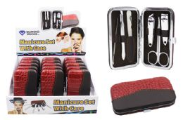 30 Units of Manicure Set With Case 6 Piece - Manicure and Pedicure Items