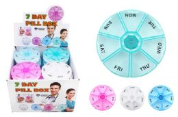 72 Units of Round 7 Day Pill Box - Pill Boxes and Accesories