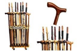 46 Units of Wood Canes And Walking Sticks - Personal Care Items