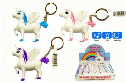 48 Units of Unicorn LED Keychain with Sounds - Key Chains
