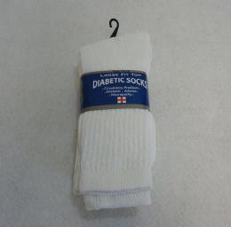 24 Units of Diabetic Crew Socks 10-13 [white] - Men's Diabetic Socks