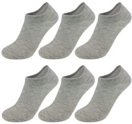 60 Units of Yacht & Smith Unisex Kids No-Show Ankle Socks Size 6-8 Gray BULK PACK - Girls Ankle Sock