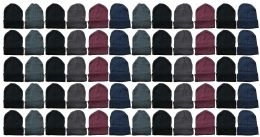 60 Units of Yacht & Smith Mens Womens Warm Winter Hats in Assorted Colors, Mens Womens Unisex - Winter Beanie Hats