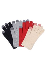 180 Units of Women's Touch Screen Acrylic Gloves Assorted Colors - Winter Gloves