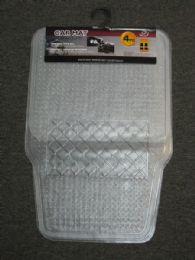 12 Units of 4 Piece Plastic Car Mat Set - Auto Sunshades and Mats