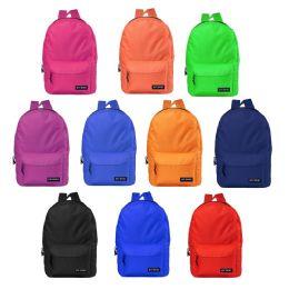 "24 Units of 17"" Kids Basic Backpacks In 12 Randomly Assorted Colors - Backpacks 17"""
