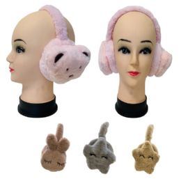 12 Units of Child's Super Soft Earmuffs [Bears & Stars] - Ear Warmers