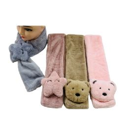 36 Units of Child's Super Soft Scarf [Bears & Stars] - Winter Scarves