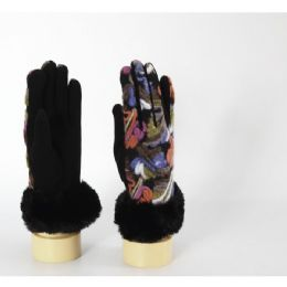 60 Units of Women's Winter Gloves With Fur Cuff - Winter Gloves