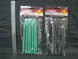 48 Units of Plastic Nylon Tent Pegs - Garden Tools
