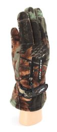 36 Units of Adults Camouflage Fleece Gloves With Fur Lined - Fashion Winter Hats