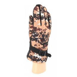 36 Units of Adults Camouflage Ski Gloves With Fur Lined and Gripper Palm - Ski Gloves