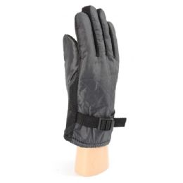 36 Units of Men's Snow Gloves With Fur Lined And Gripper Palm - Winter Gloves