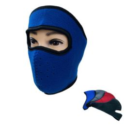 24 Units of Extra Warm Fleece Wrap-Around Face Mask - Unisex Ski Masks