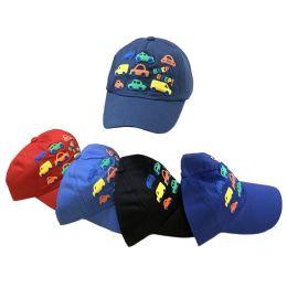 36 Units of Boy's Printed Ball Cap [cars] - Baseball Caps & Snap Backs
