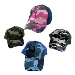 36 Units of Child's Camo Ball Cap--Assorted Boys and Girls - Kids Baseball Caps