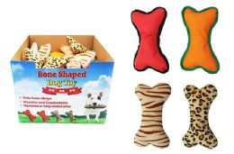 36 Units of Bone Shaped Squeaky Dog Toy - Pet Toys