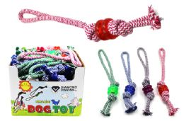 36 Units of Dog Rope Toy With Rings - Pet Toys