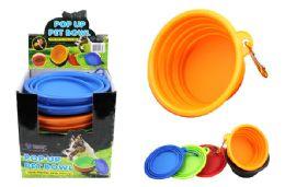 48 Units of Pop Up Silicone Pet Bowl - Pet Supplies