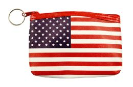 48 Units of Usa Flag Coin Purse - Coin Holders & Banks