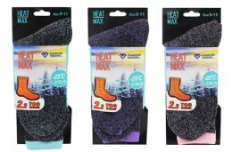 48 Units of Ladies Thermal Book Sock - Womens Thermal Socks