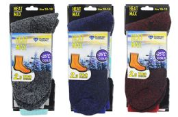 48 Units of Men's Thermal Boot Socks 10-13 - Mens Thermal Sock