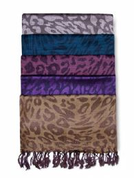 60 Units of Womens Printed Pashmina Woven Scarf Assorted - Womens Fashion Scarves