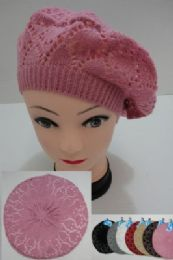 24 Units of Knit Beret [loose Knit] - Fashion Winter Hats